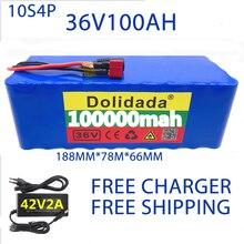 100% Original 36V batterie 10S4P 100Ah batterie pack 1000W high power batterie 42V 100000mAh Ebike elektrische fahrrad BMS + 42V2A Ladegerät