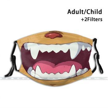 Cat Bus Totoro Face Mask Custom Design For Adult Kids Anti Dust Filter Diy Cute Print Washable Mask Totoro Cat
