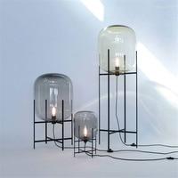 Nordic Glass LED Floor Light Vloerlamp Standing Lamp Standing Lights Living Room Bedroom Restaurant Floor Lamp Kitchen Fixtures