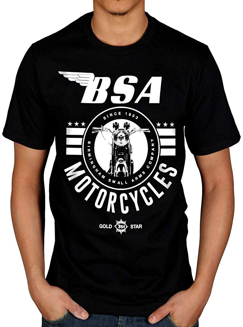 Official <font><b>BSA</b></font> Since 1903 Motorcycle T <font><b>Shirt</b></font> Men Women Customize O Neck TEE <font><b>Shirt</b></font> image
