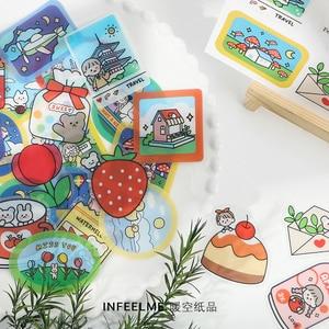 Image 4 - Infeel.Me Träumer tagebuch PVC aufkleber Scrapbooking Dekoration label 1 lot = 16 packs Großhandel