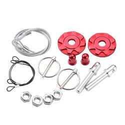 Red hood Pin blokada ze stopu aluminium zestaw uniwersalny silnik Bonnet zatrzask zestaw montażowy akcesoria samochodowe -