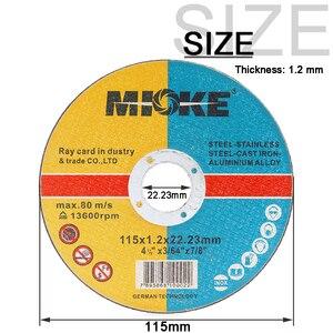Image 3 - Discos de corte de metal e inoxidável, discos de corte de metal e aço inoxidável de 115mm para moagem de rodas, roda de moagem em ângulo com 5 peças 50 peças