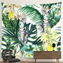 Żyrafa roślin gobelin duża Psychedelic Mandala tapeta w stylu boho gobelin Home Decor Wall Art dla sypialnia salon 95x73cm tanie tanio CN (pochodzenie) Pranie ręczne Można prać w pralce PLANT PRINTED Zwykły Dzianiny Peach skin