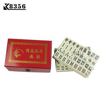 K8356 Mini Mahjong Portable Environmental Protection Melamine Mahjong Set Table Game Travel Mahjong Games Board Game 22*15*12mm large mahjong portable wooden boxes set table game mah jong travelling board game indoor antique leather box english manual