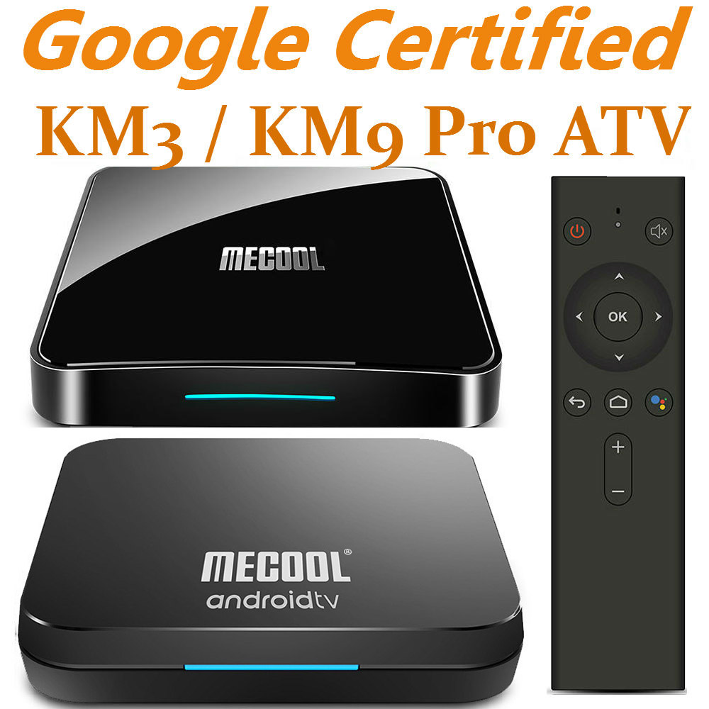 Mecool Androidtv 9.0 KM3 KM9 Pro ATV Box Google Certified S905X2 4K Media Player 2.4G/5G WiFi KM9 Android 9.0 Smart Set Top Box