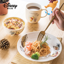 Disney Authentic 4 Pcs Tableware Set Fashion Cartoon Ceramic Bowl Plate Cup Spoon Set With Box Christmas Gift
