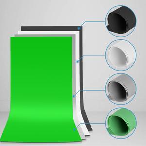 Image 5 - ZUOCHEN Photo Studio Adjustable Backdrop Support Stand Kit 1.6 x 3m Black/White / Green/Gray Backdrop Screen