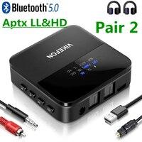 بلوتوث 5.0 جهاز إرسال سمعي استقبال AptX HD LL الكمون المنخفض CSR8675 محول لاسلكي RCA SPDIF 3.5 مللي متر Aux جاك لسيارة تلفزيون الكمبيوتر