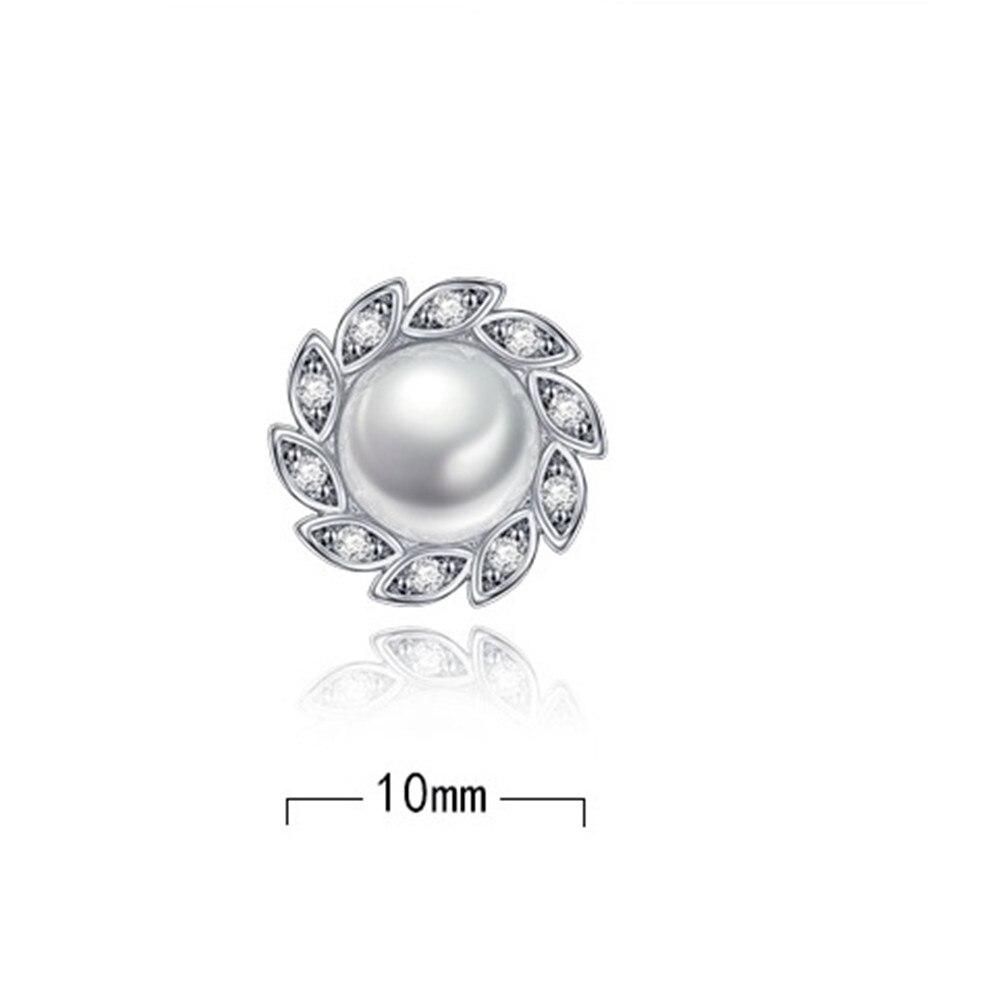 NEHZY 925 Sterling Silver Stud Earrings High Quality Woman Fashion Jewelry New Wind Leaf Crystal Zircon Pearl Hot Sale Earrings