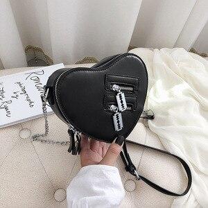 Image 4 - กระเป๋าสตรีและกระเป๋าถือแฟชั่นสีแดง Love Heart Shape ไหล่กระเป๋าผู้หญิง Crossbody กระเป๋าสุภาพสตรีกระเป๋าสตางค์และกระเป๋าคลัทช์
