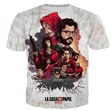 La Casa De Papel T Shirt Men/women 3D Printed T-shirts Casual Harajuku Style Tshirt Streetwear Tops
