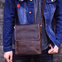 AETOO new handmade 2019 Men's Shoulder Bag genuine Leather Messenger Bag Small Vintage Handmade Crazy Horse Leather Bag
