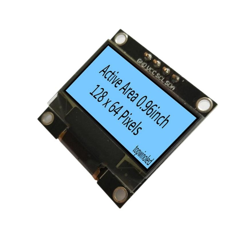 0.96 Inch OLED Display 128X64 I2C/IIC LCD Module Display Screen 4Pin/IIC Interface SSD1309