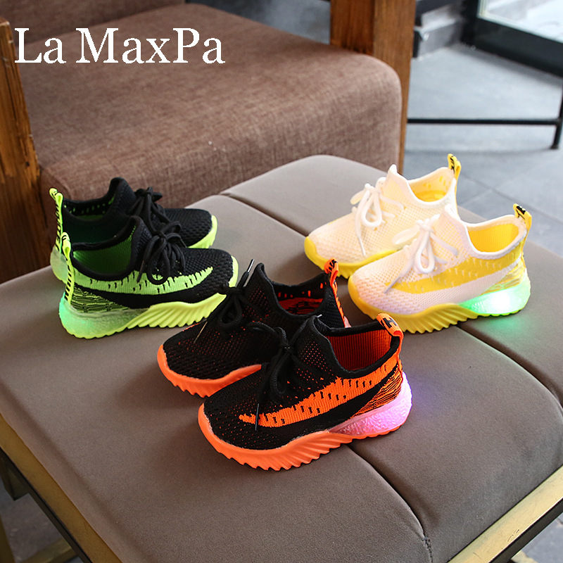 Size 21-30 Glowing Sneakers Children Boys Shoes With Sole Enfant Led Light Luminous Sneakers For Girls Shoes Kids Led Shoes