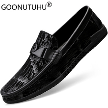 2019 style fashion men's shoes casual genuine leather male loafers cowhide slip on shoe man flats driving shoes for men hot sale genuine cowhide leather men s casual shoes autumn fashion crocodile grain slip on flats shoe