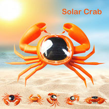 Solar Powered Crab Kid Solar Energy Powered Mini Kit Novelty Power Crab Educational Gadget Toy Baby Solar toy 2020(China)