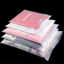 10pcs Matte Clear Ziplock Plastic Package Cloth Travel Storage Bag Waterproof Bag Zipper Lock Self Seal Frosted Portable bags