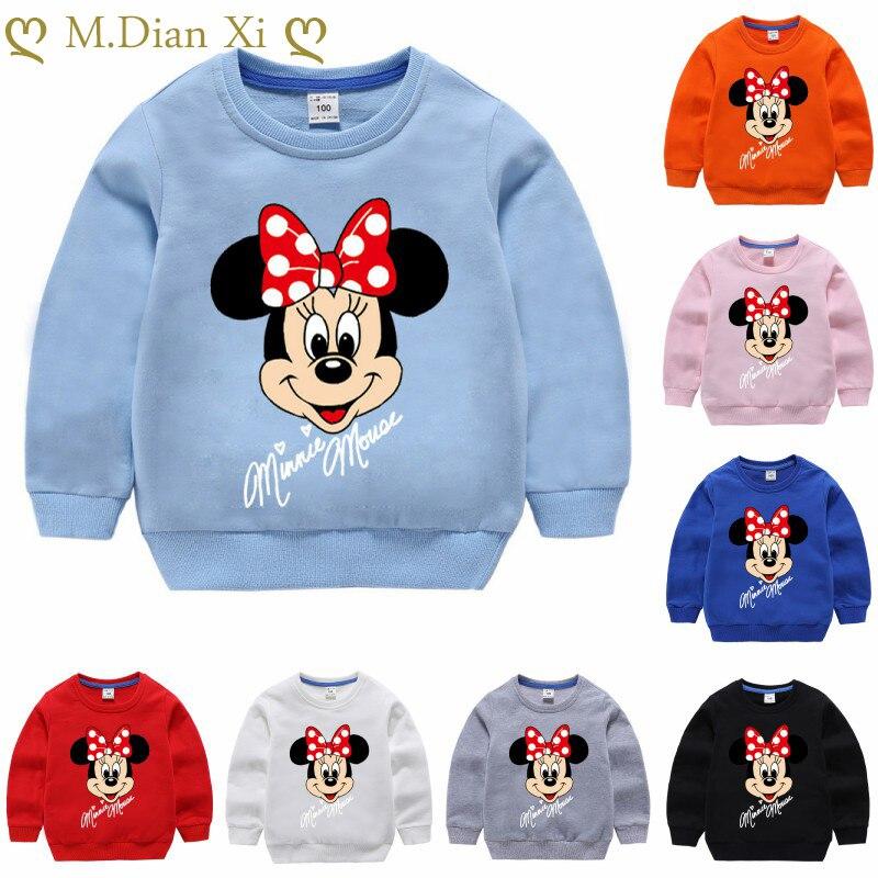 Bluzy dziecięce jesień kreskówka Minnie bluzy chłopięce ubrania bluzy dziecięce bluzy dziewczęce drukuj bluzy dziecięce 1-8Y