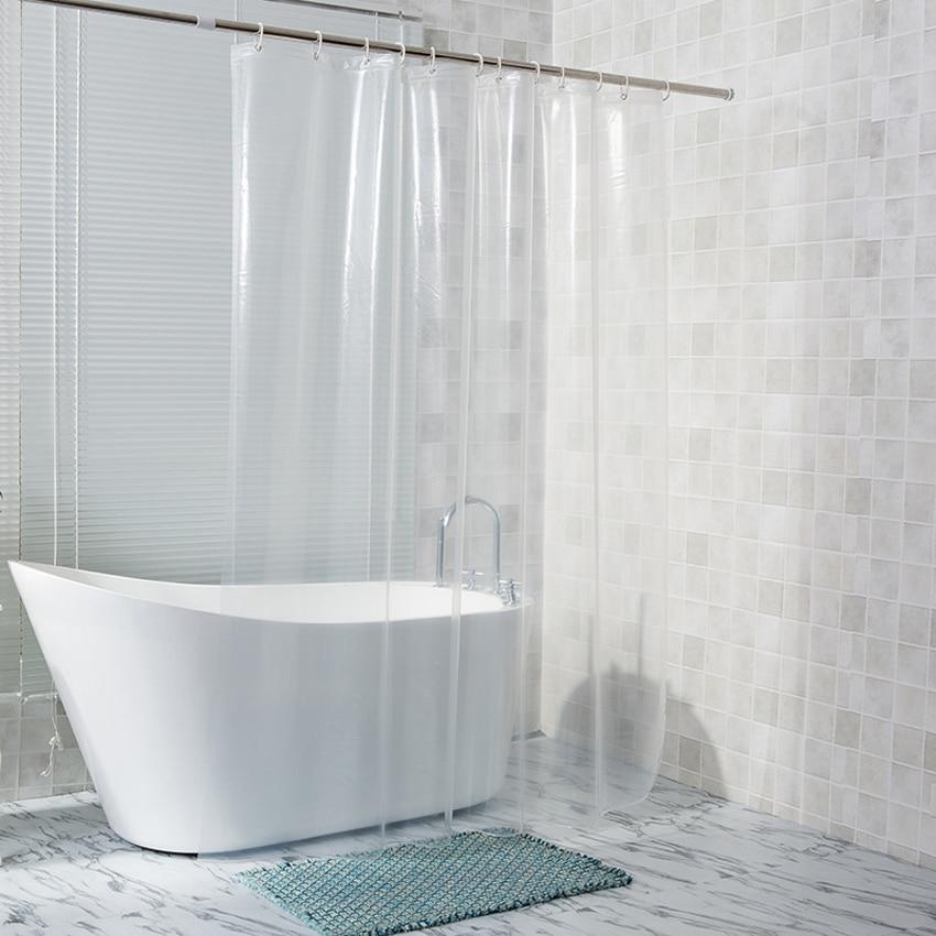 shower curtains clear white bath
