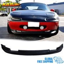 Pasuje do Mazda Miata 90-97 2Dr GV styl przedni spojler zderzaka spojler Bodykit czarny bezpłatna wysyłka na całym świecie na całym świecie