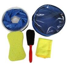 5pcs/set Car Wash Tool Set Portable Bucket Sponge Towel wheel cleaning brush Combination Car Detailing Gift Car Accessories