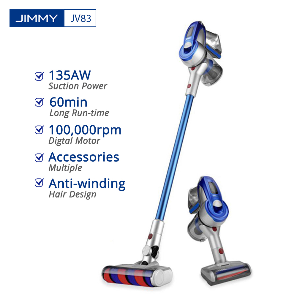 JIMMY JV83 Vacuum Cleaner Wireless Handheld Cordless Stick Vacuum Cleaner Digital Motor 20kPa Aspirator Dust Collector For Home
