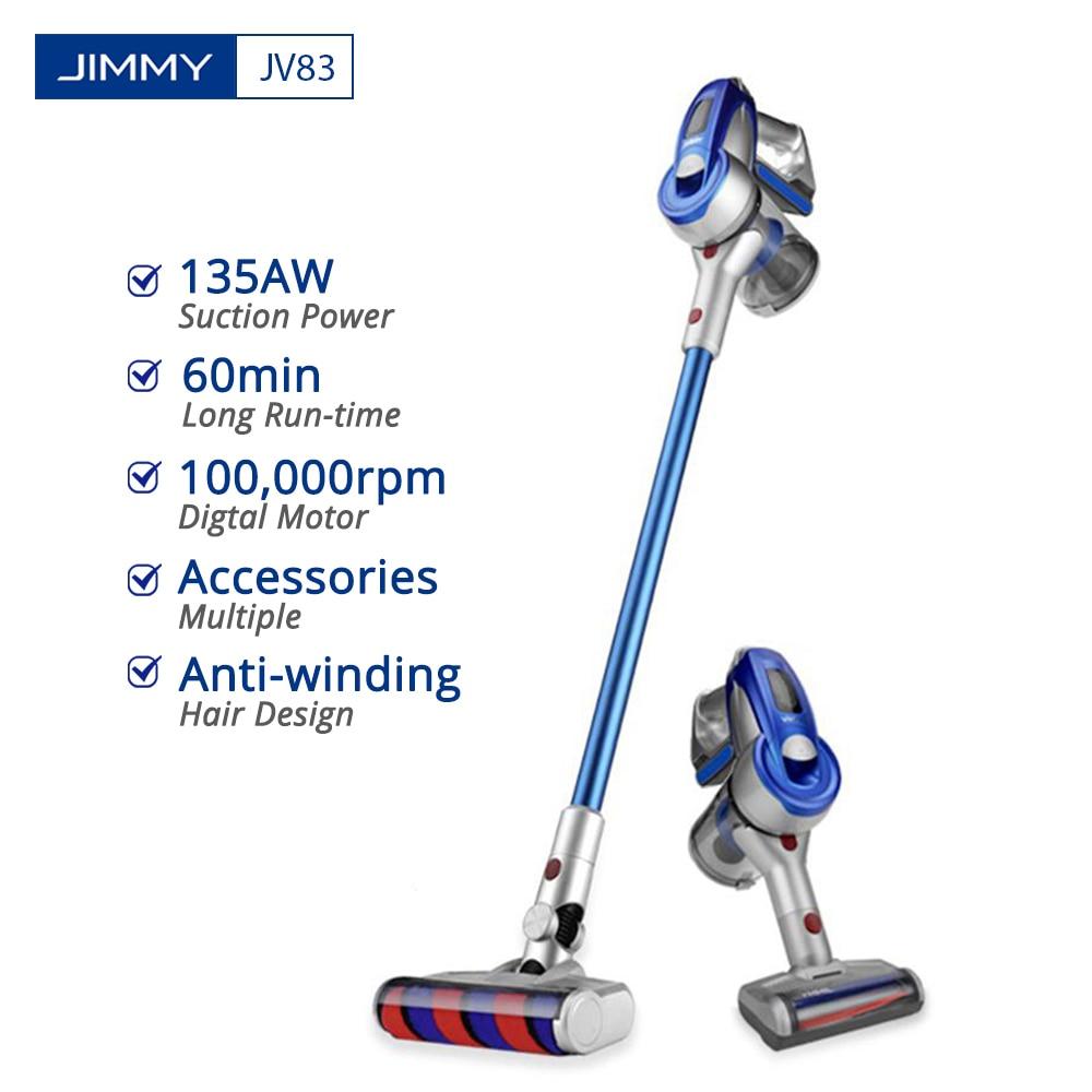 JIMMY JV83 aspirateur sans fil portable sans fil bâton aspirateur numérique moteur 20kPa aspirateur dépoussiéreur pour la maison