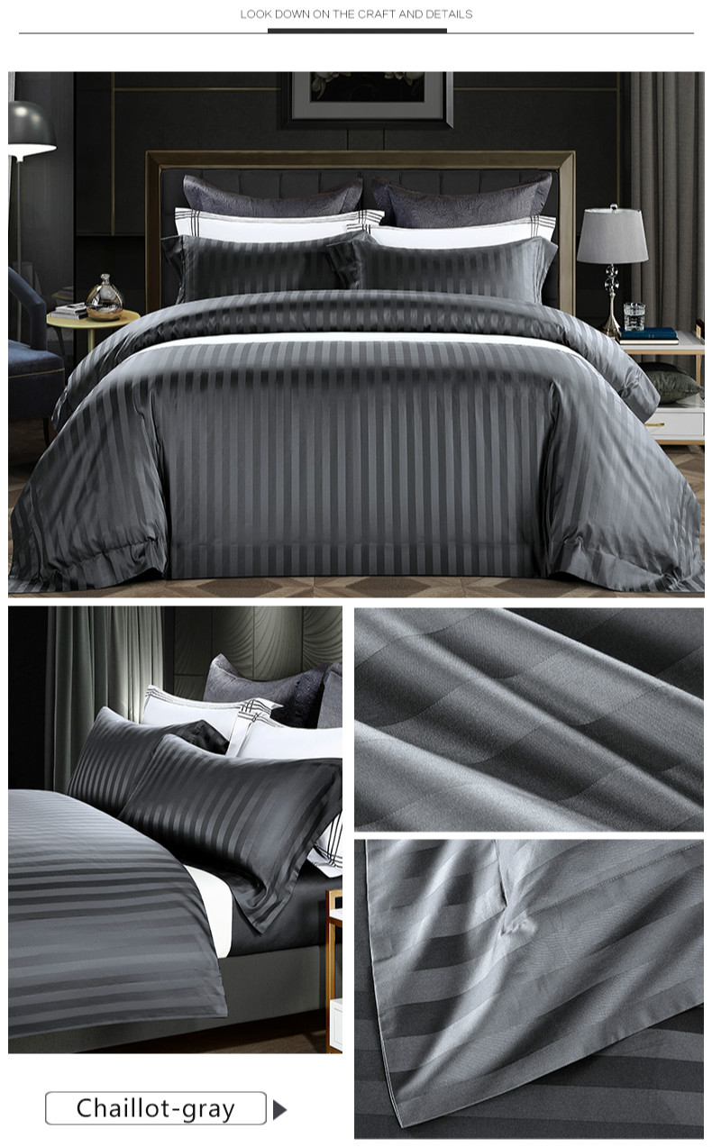 Imported Egyptian Cotton Sateen Jacquard 4PC Bedding Set - Novarian Creations