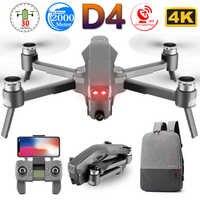 D4 Profissional Quadrocopter pieza 5G GPS FPV 600M WiFi Drone con HD 4K cámara de Motor sin escobillas de vuelo 30 Min RC juguetes helicóptero SG907