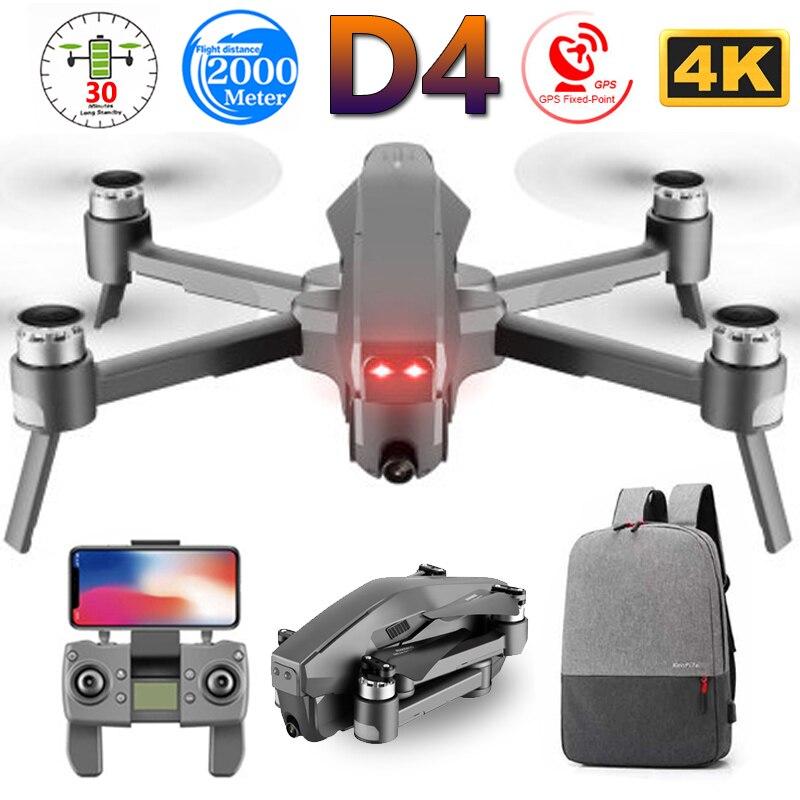 D4 quadrocopter professional 5g gps fpv 600 m wifi zangão com 4 k hd câmera brushless motor de vôo 30 min rc helicóptero brinquedos sg907