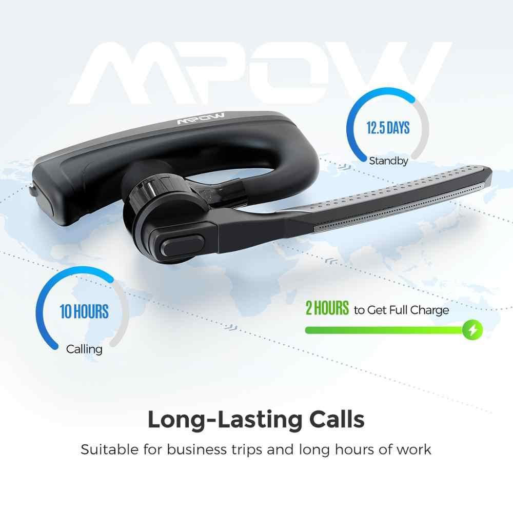 Mpow EM20 سماعات لاسلكية واحدة CVC8.0 إلغاء الضوضاء 10 ساعات وقت التحدث بلوتوث سماعات للآي فون XS هواوي سيارة مكتب