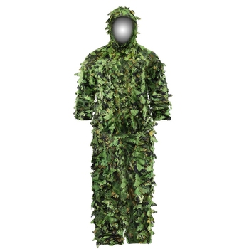 Sticky Flower Bionic Leaves Camouflage Suit Hunting Ghillie Suit Woodland Camouflage Universal Camo Set 3