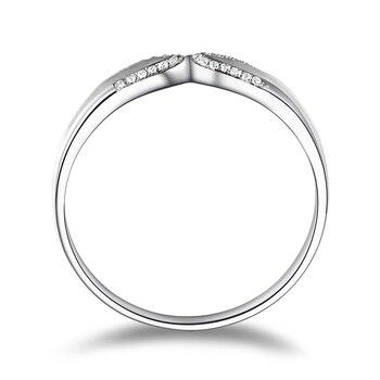 Diamond 18K White Gold Wedding Bands Engagement Couple Rings Handmade Diamond Jewelry 2