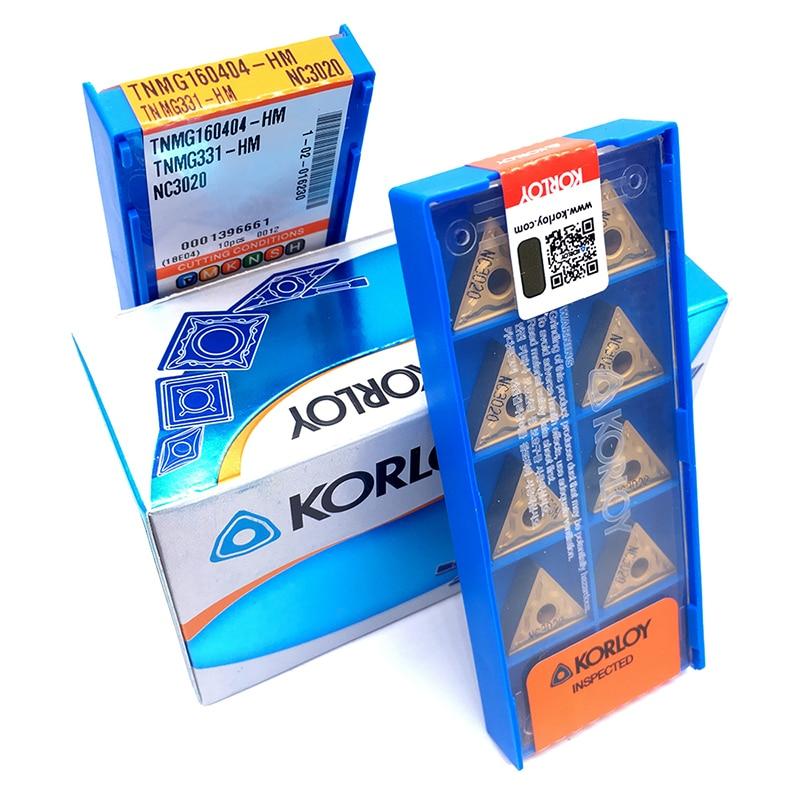 100PCS Blades TNMG160404 HM NC3020 Carbide Inserts High Quality CNC Lathe Tools External Turning Tool TNMG 160404 With Box
