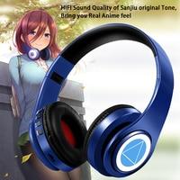 Miku-auriculares Nakano Sanjiu Cosplay, por Bluetooth 5,0, auriculares estéreo sobre la oreja de Anime para teléfono móvil