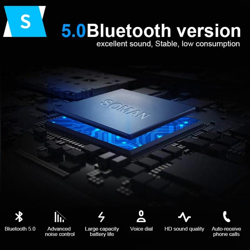 SOMAN Bluetooth мотоциклетный шлем гарнитура Универсальный водонепроницаемый шлем bluetooth-гарнитура мотоциклетная гарнитура беспроводные наушники M1