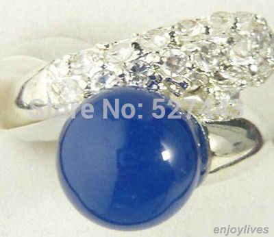 ภาพเคลื่อนไหว ++++ livre> azul หยกคริสตัลสีขาว banhado a ouro ขนาดของ anel: 6.7.8.9 5.24