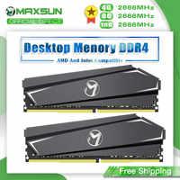 MAXSUN-Memoria Ram para PC DDR4, 4GB, 8GB, 16GB, 2666MHz, 3 años de garantía, interfaz de 1,2 V, 288Pin, módulo de Memoria Ram para ordenador de escritorio