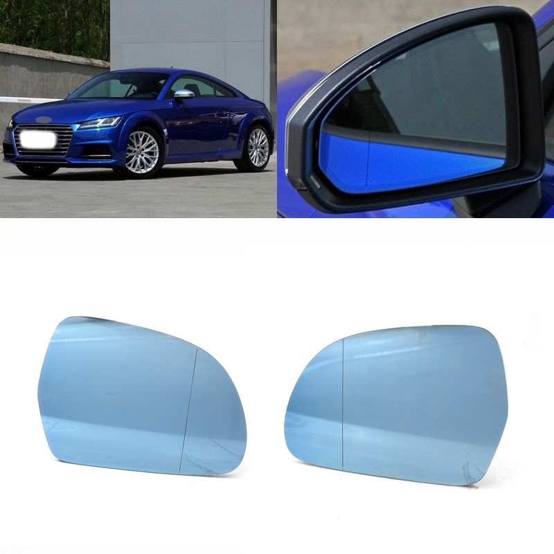 FOR AUDI A4 B8 2009 2010 2011 2012 For A3 A8 2008-2010 Sedan Car Replacement parts Rear ViewMirror Glass Blue Glass Anti-glare