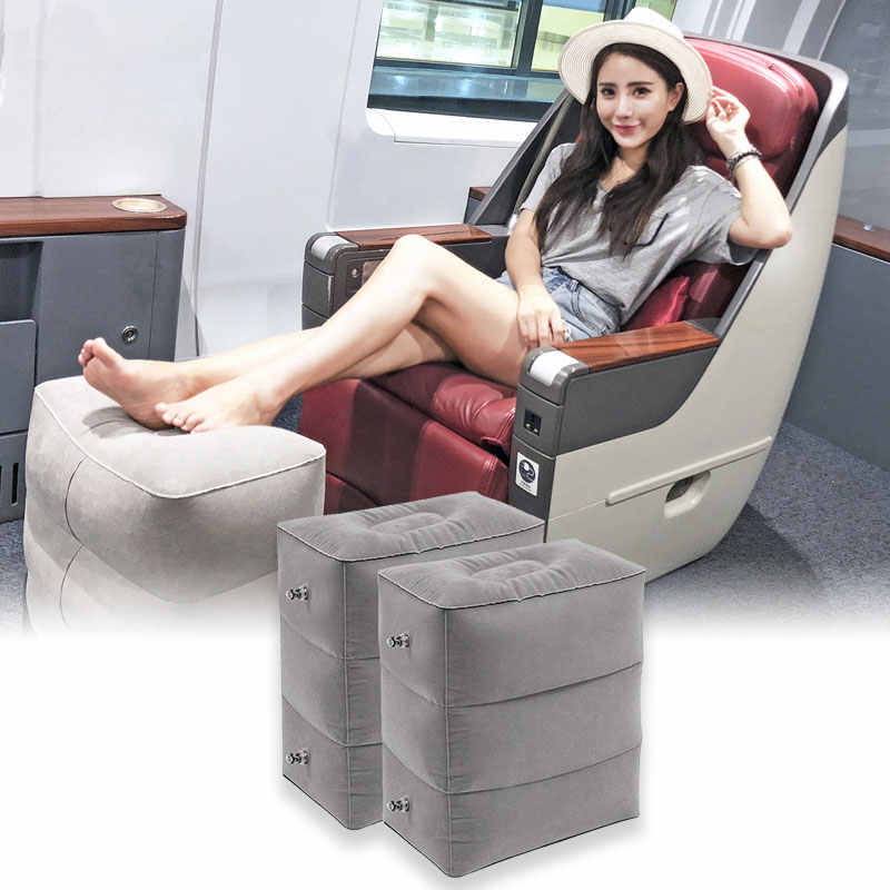 Flight Sleeping Footrest Pillow Foldable Inflatable Travel Foot Pillow Portable Plane Train Kids Bed Foot Rest Pad pouf chambre