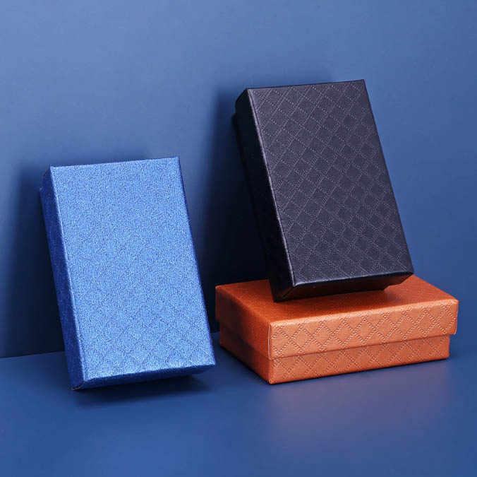 Caja de joyería de moda 2019 anillo collar pulsera pendientes cajas de papel caja de regalo de boda de compromiso caja de almacenamiento de exhibición al por mayor