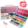 100 farben Bunte Dual Tip Pinsel Marker Stift Aquarell Feine Liner Kunst Marker Für Färbung Zeichnung Malerei Kalligraphie