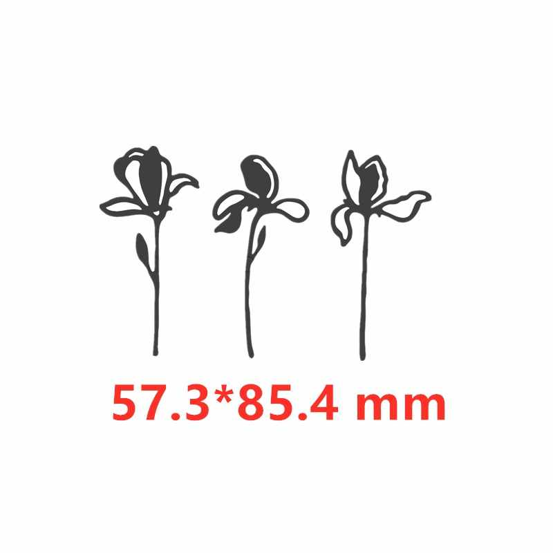 Metal kesme ölür 3 adet Set çiçek kesim die kalıp yeni 2019 karalama defteri kartları yapma kağıt zanaat bıçak kalıp bıçak yumruk