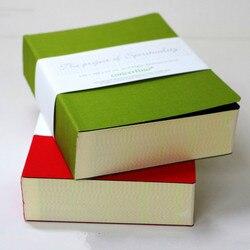 Cuaderno de bolsillo grueso de 120mm x 165mm, cuadrícula de papel de diseño puro, cuaderno de 320 hojas