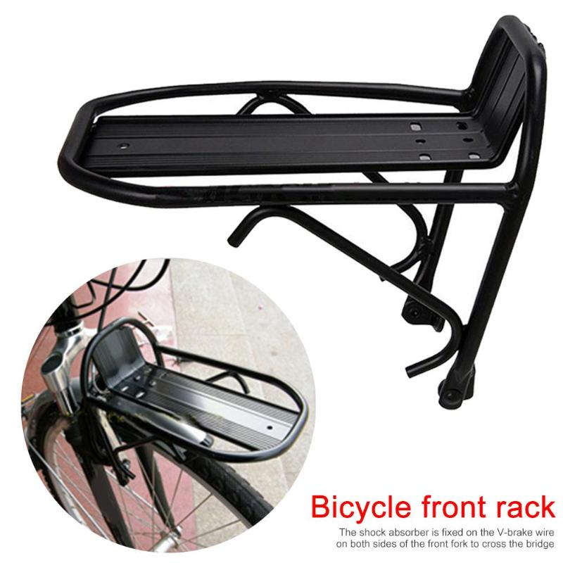 Aluminum Alloy MTB Road Cycling Bike Bicycle Front Rack Carrier Panniers Bag Luggage Shelf Bracket Trunk For Bicycle Parts 2020
