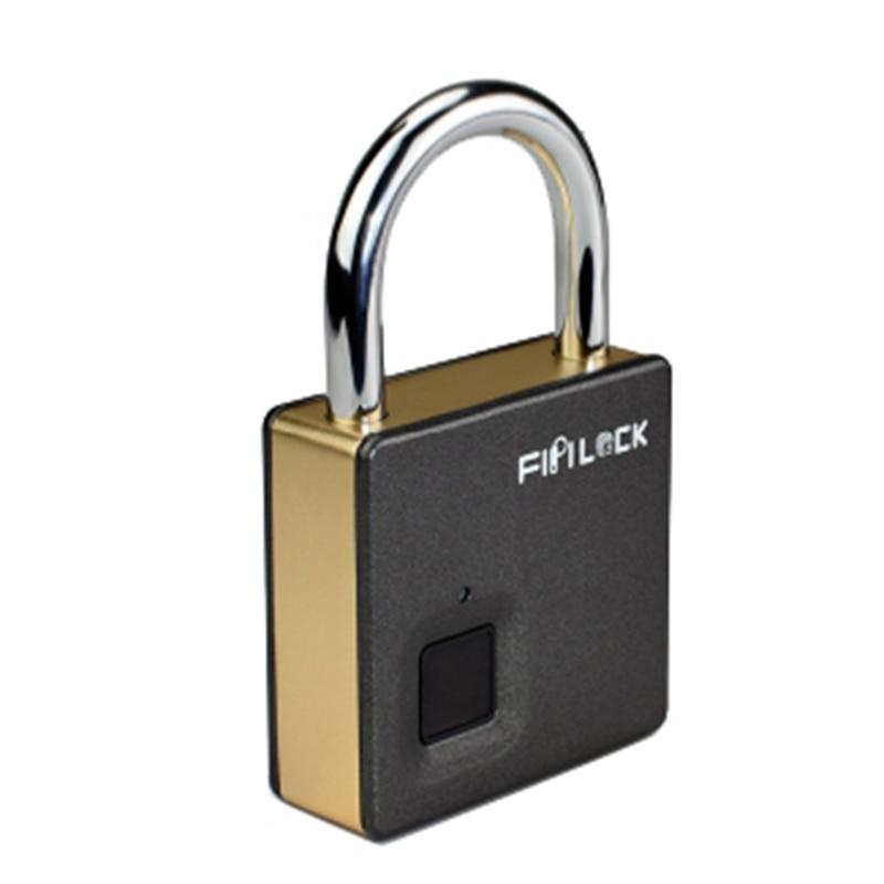 Fipilock Smart Lock Keyless Fingerprint Lock IP65 Waterproof Anti-Theft Security Padlock Door Luggage Case Lock with Key & Cable