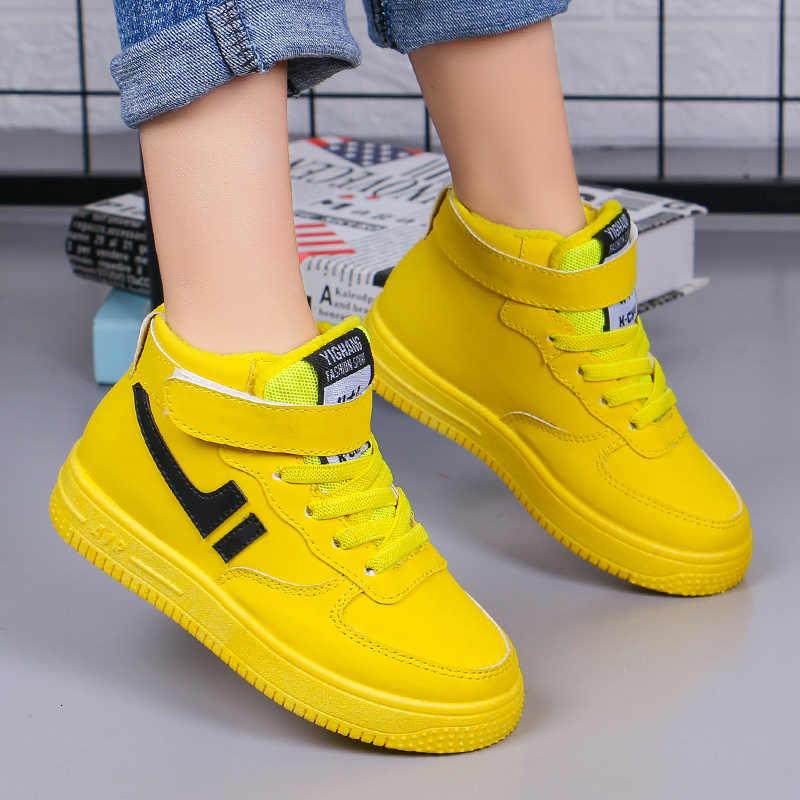 Çocuk kış ayakkabı kız ve erkek Warmr peluş su geçirmez kar botları çocuk Sneaker ayakkabı moda açık yarım çizmeler 26-37