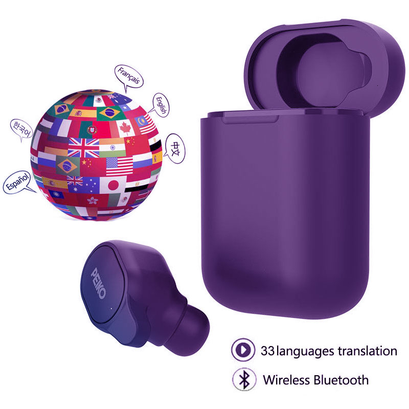 Tüketici Elektroniği'ten Bluetooth Kulaklık & Kulaklıklar'de Kablosuz bluetooth TWS kulaklık 5.0 Volemer çeviri kulaklıklar 33 dil ses spor kulaklık tüm akıllı telefon için title=