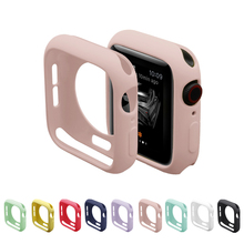 Candy color TPU cover for apple watch series 5 4 3 2 1 case 42mm 38mm Ultra-thin bumper fit protector for iwatch 40mm 44mm watch ashei watch cover for apple watch 3 case 42mm 38mm series 3 2 1 soft slim tpu all around ultra thin screen protector for iwatch